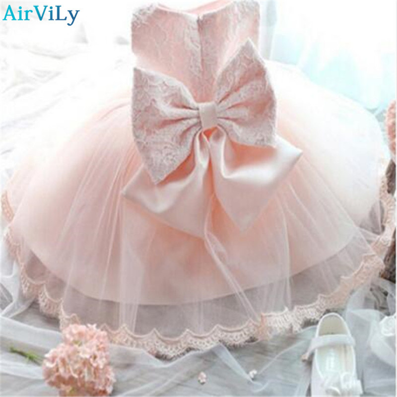 Elegant Girl Dress Girls 2018 Summer Fashion Pink Lace Big Bow Party Tulle Flower Princess Wedding Dresses Baby Girl dress new fashion embroidery flower big girls princess dress summer kids dresses for wedding and party baby girl lace dress cute bow