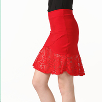 S 5XL True Photos Women Elegant Lace Red Mini Skirts 2017 Summer New Fashion Mermaid Skirt