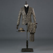 Костюм леопардовый для мужчин ночной клубный костюм певицы барной
