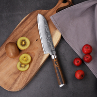 SUNNECKO Professional 7 / 5 Santoku knife Damascus Steel Sharp Blade kitchen knives Pakka Wood Handle Meat Slicer Cutter Knife