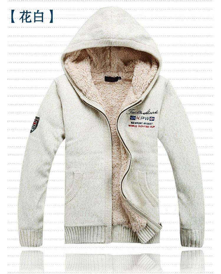 Brand Autumn Winter Fashion Casual Sweater Coat Men