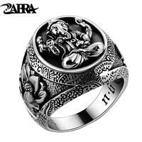 925 Silver Ornament Thai Silver Restoring Ancient Ways Trunk Mammon Ring Lotus Flower Ring Gentleman Personality