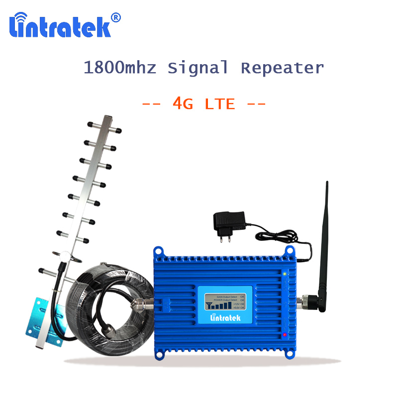 lintratek repeater lte 1800 DCS Band 3 booster 1800mhz 4g cellphone signal repeater with 4g antenna