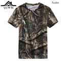 High Quality 2016 Outdoors Summer Short Sleeve Camouflage Print Casual tshirt O-Neck Wear-resisting Army tactical Jungle Top Men