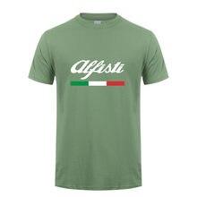 Alfa romeo t camisa masculina topos nova moda manga curta alfisti t-shirts mans tshirt LH-069