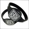 Custom QR Code Silicone Bracelet for Advertising Gift