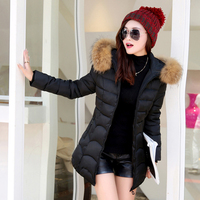 Women Coats Winter Slim Long Parkas Ladies Fashion Cotton Female Coats Outwear Hooded Warm Jacket Winter Women Coats 2018 MDR17