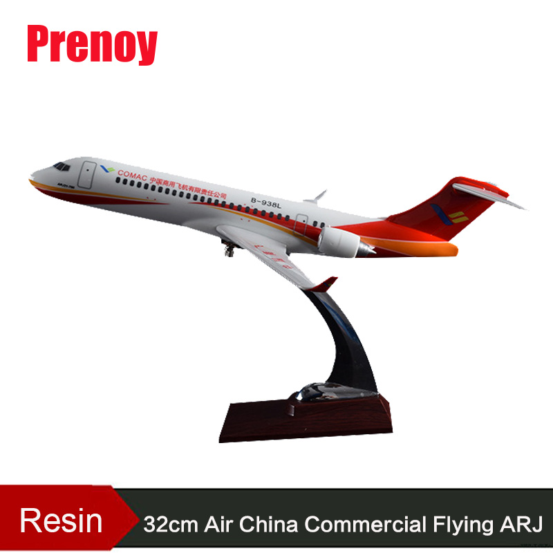 32cm Air China Commercial Flying ARJ Resin Aircraft Airplane Model Air China ARJ Aviation COMAC Stand Craft Chinese Plane Model цена