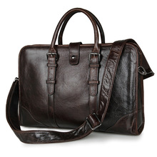 Vintage Real Skin Genuine Leather Men Messenger Bags Cowhide Man Handbag Briefcase Portfolio #M7339