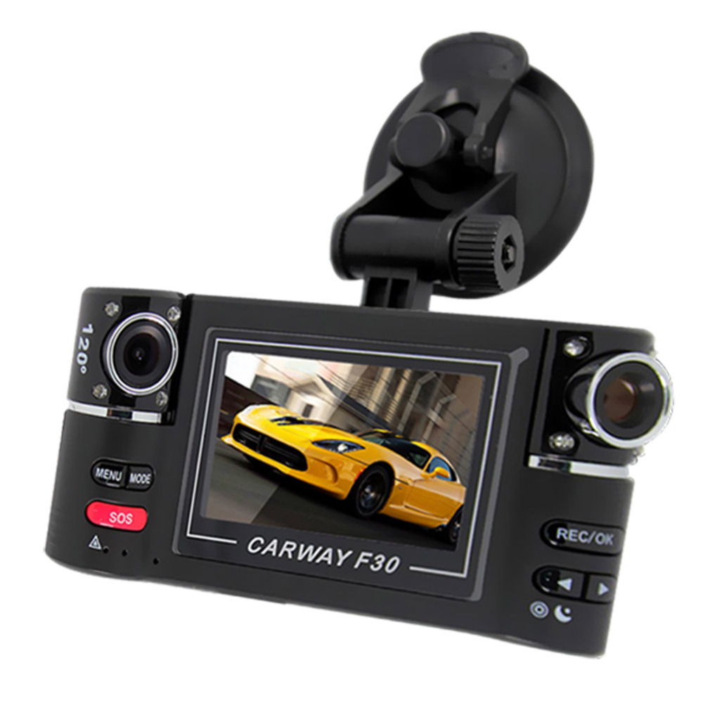car camera dual lens f30 2 7 car camera night vision hd car dvr vehicle driving camcorder video. Black Bedroom Furniture Sets. Home Design Ideas