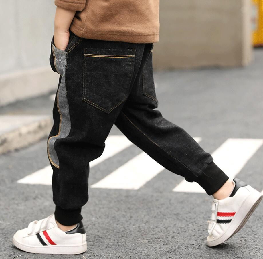 Intellective 2019 Lente Kinderkleding Jongens Jeans Solid Dunne Denim Baby Jongens Jeans Voor Grote Kinderen Jongens Causale Jeans Lange Broek