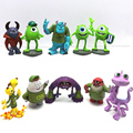 Top quality 10pcs Monsters Inc prequel Monsters University of PVC action figure 8cm Mike and Sullivan toy