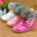 boots for children winter boots kids boys boots 2016 autumn and winter fashion wings Thick plush warmth pink boots waterproof sn