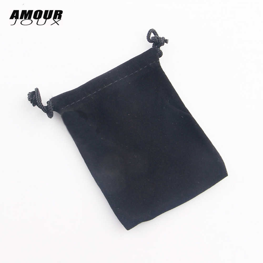 1 PC Hitam Beludru 7*9 Cm Cincin Anting-Anting Kalung Gelang Tas Display Packaging Hadiah Kantong