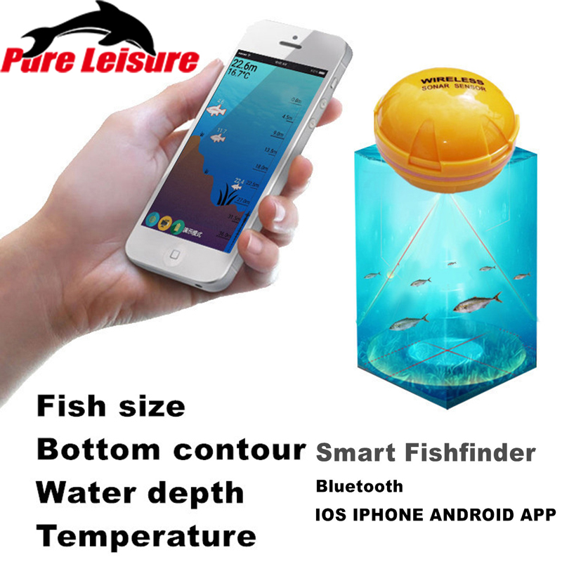 PureLeisure Waterproof Wireless Sonar Fishfinder Ice Fishing Detector Portable IOS Android Findfish Sounder Underwater MobilePureLeisure Waterproof Wireless Sonar Fishfinder Ice Fishing Detector Portable IOS Android Findfish Sounder Underwater Mobile