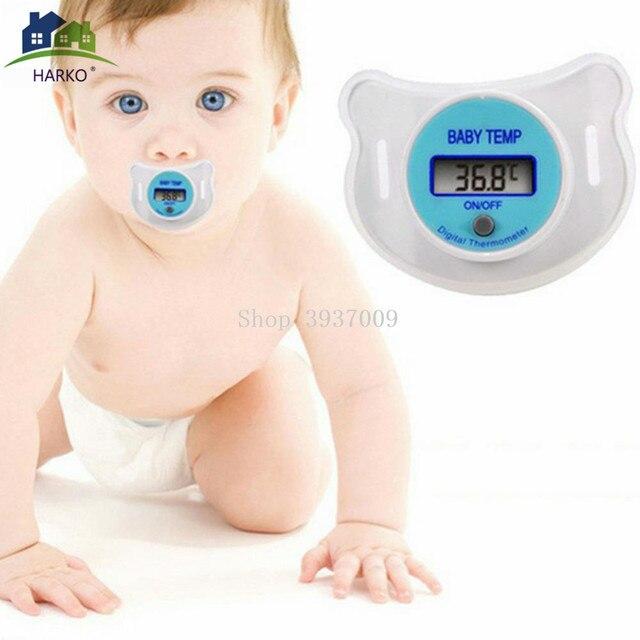 Termómetro Digital para pezón para bebé chupete de silicona médico termómetro LCD para cuidado de la salud para niños 1