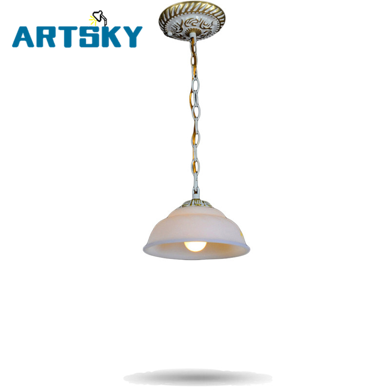 European - Style Retro Pendant Lights Fixture Living Room Bedroom Restaurant Bar Lamp Single Head Entrance Lamps Pendant Hang european style iron pendant lights living room lamp bedroom restaurant pastoral art lighting single head pendant lamps za