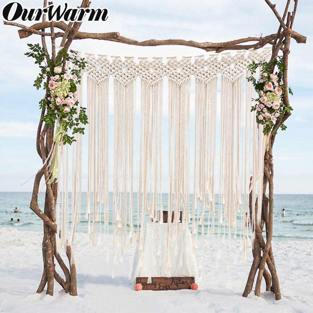 Ourwarm Boho Wedding Decor Backdrop Table Runner Burlap Banner