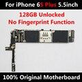128 gb motherboard original para iphone 6 s plus 5.5 polegadas full chips ios desbloqueado placa lógica mainboard não oficial de impressões digitais