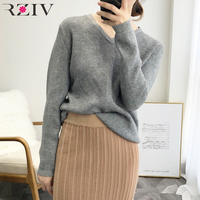 RZIV autumn women fashion sweater women jumpers casual knitted pullovers sweater jumpers ladies
