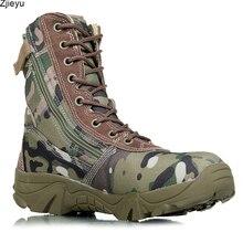 Новинка 2017 мужские военные ботинки камуфляж и черные прочные сапоги в стиле «милитари» автора Bot мужчин kamuflaj Bot армейские ботинки скальные туфли