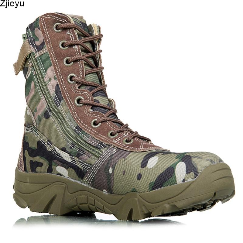 2017 nuovo menmilitary stivali camouflage e nero stivali da combattimento tattico asker bot uomini kamuflaj bot army uomo scarpe da arrampicata