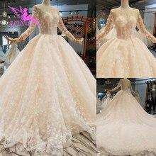 AIJINGYU vestido de boda Real novia hawaiana turco talla grande africano Hecho en Turquía lujo Dubai vestido vestidos de novia