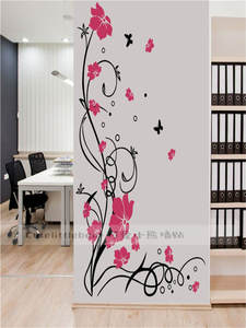 Decals Mural Wall-Stickers Flower Vinyl Tree Bedroom Living-Room Home-Decor Butterfly