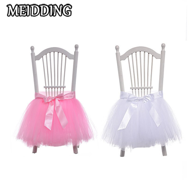 MEIDDING-birthday party baby High Chair Tutu/table skirt baby shower First Birthday Party Tutus for home party supplies 45*45cm