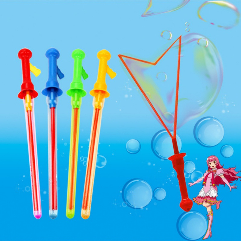 Outdoor Toys Long Bubble Machine Gun Bar Sticks Without Water Western Sword Shape for Kids Soap Bubble Toy