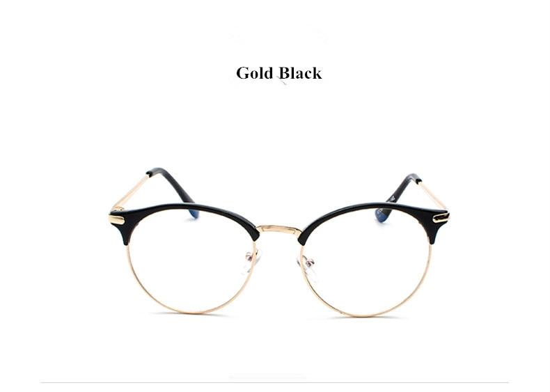1f07744ace0114 VWKTUUN Vintage Eyewear Bril Frame Clear glazen Half Frame Metalen ...