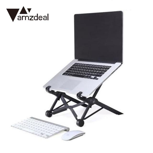 AMZDEAL Folding Laptop Stand Portable Stand Adjustable Height Laptop Table  Stand Bracket For MacBook Stand Table