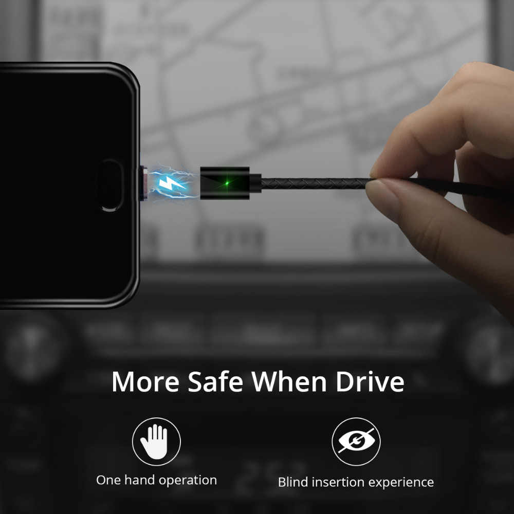 FONKEN Magnetic Cable Fast Charging Magnet type c USB C Cable Sync Data Phone Cables Quick Charge Magnet Charger Cable Type C