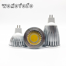 Led Cob Spotlight  GU5.3 Led MR16 New High Power MR 6 12V GU 5.3 220V Dimmable Warm Cool White  Bulb Lamp COB 6w 9w 12w Lampada цена 2017