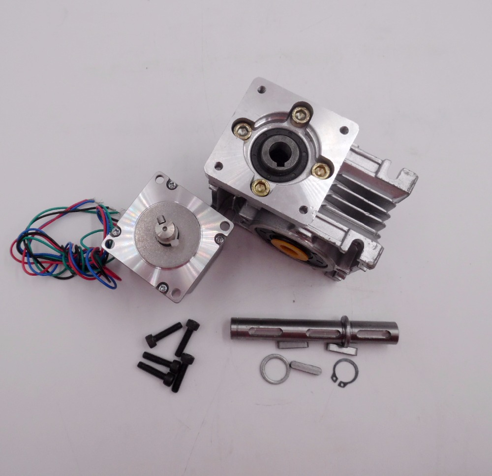 Ratio 10:1 self-lock High-Torque L112mm NEMA23 4.2A RV30 Turbine Worm Gearbox Geared+Stepper Motor For Decorating machine 57mm planetary gearbox geared stepper motor ratio 10 1 nema23 l 56mm 3a