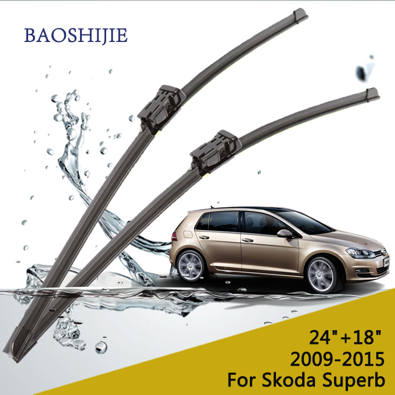 Wiper blade for Skoda Superb(2009-2015) 24+18 fit push button type wiper arms