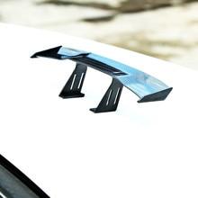 цена на Etie Car-styling Mini Car Spoiler Wing Small Model Carbon Fiber Vinyl Auto Tail Accessories For Volkswagen Golf GTI Mustang GTR