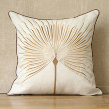 High fashion dandelion pillow rustic embroidery cotton linen pillow ca