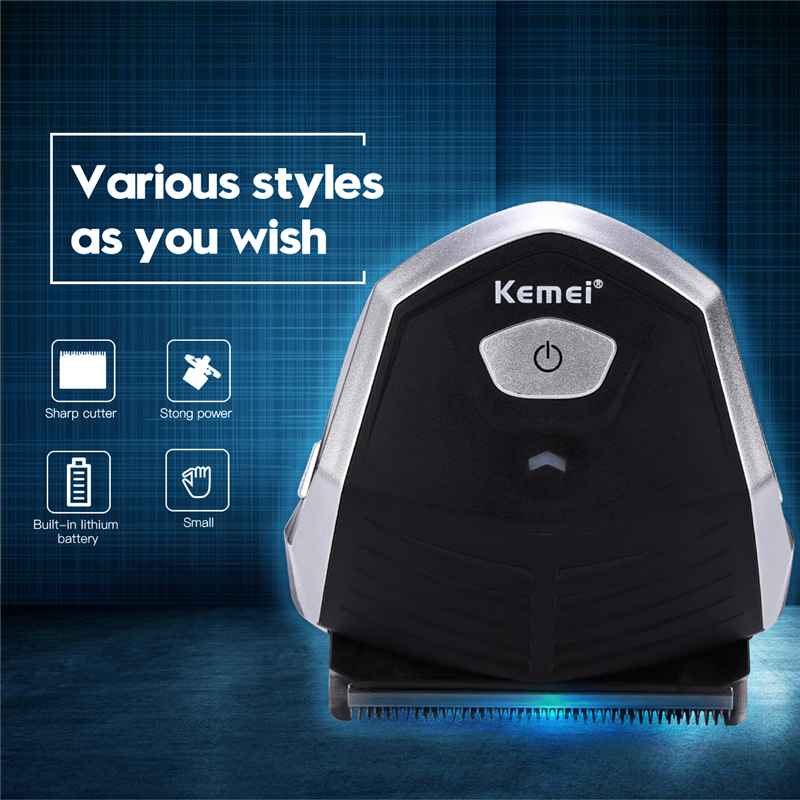 где купить Kemei Professional Hair Cutter For Men Rechargeable Hair Trimmer Shaver Haircut Machine Cutting Clipper Electric Beard Razor дешево