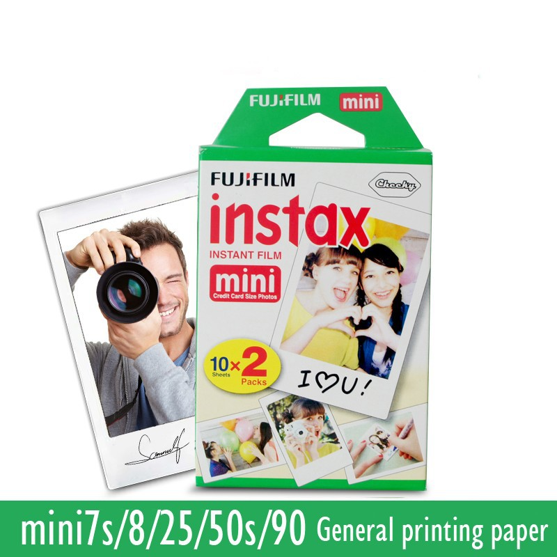 Original Fujifilm instax mini 8 9 film pour 7 S 25 8 50 s 90 polaroid appareil photo instantané mini film blanc edage (60 feuilles) + cadeau gratuit - 3
