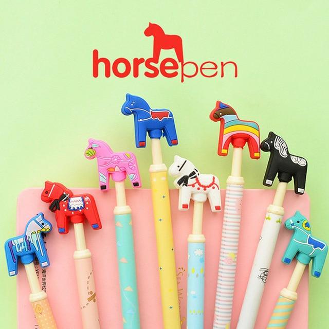 crazy office supplies. 8pcs Crazy Pony Gel Pen 0.5mm Cute Pens Horse Creative Student OL Office School Supplies
