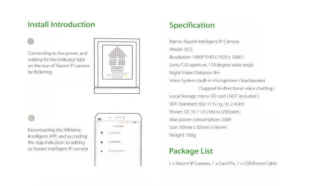 Original Xiaomi Xiaofang 1080P Mijia Cam Portable Camcorder Night Vision 8X Digital Zoom WIFI App Control For Home Security 1