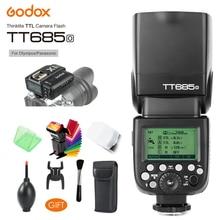 Godox TT685O 2.4G HSS 1/8000s i-TTL GN60 Wireless Speedlite Flash, X1T-O Transmitter Trigger for Olympus/Panasonic +Gift Kit