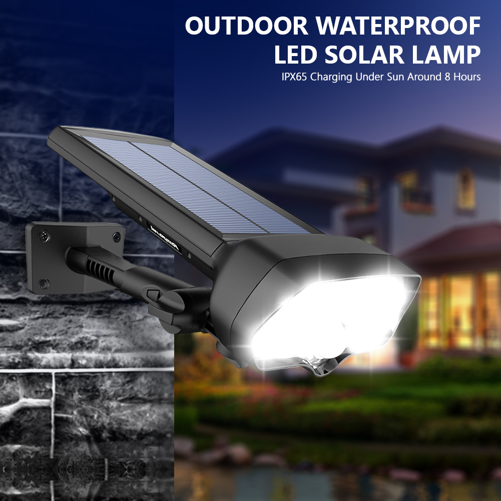 TSLEEN 4.8*2.5 Solar Power Panel 17 LED PIR Sensor Light Deck Yard Security Lamp IP65 Waterproof Garage Pathway Garden Lamp