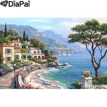 DIAPAI 5D DIY Diamond Painting 100% Full Square/Round Drill Town scenery Diamond Embroidery Cross Stitch 3D Decor A21958 diapai 100