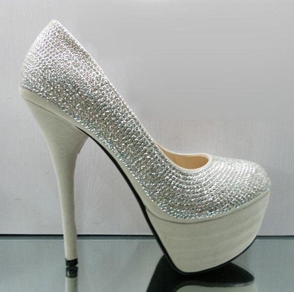 86ac6ddc4ff New Korean Women s black and silver 14cm platform high heels