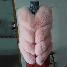 2016 women female multicolor fashion slim real natural fox fur vest short full pelt block fox fur vest large plus size x,xxl.xxl