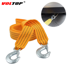 3M 3Ton Towing Ropes Nylon Tow Strap Night Reflective Tape Trailer Car Auxiliary Emergency Helper High Strength Steel Hook
