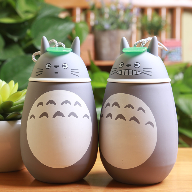 Kawaii Cartoon Totoro thermos Stainless Steel heat preservation Cup kids Cute Belly Cup Vacuum Flasks Insulation