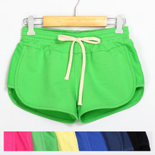Small terry cotton candy colored shorts casual home shorts female shorts